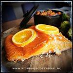 orange smoked salmon