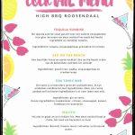 cocktail menukaart